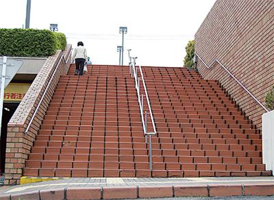 大階段アートに挑戦