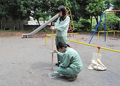 子どもの生活の場で測定