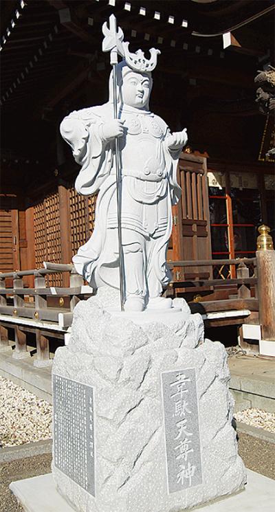 野川神明社に韋駄天像
