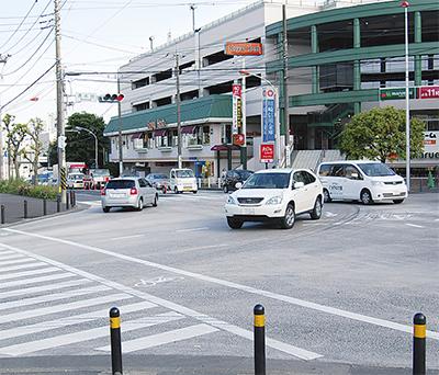信号変更で渋滞緩和