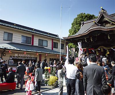 溝口神社で七五三詣