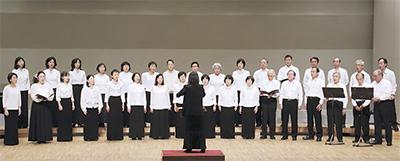 つつじ寺で「般若心経」を合唱