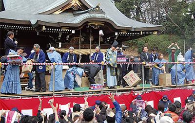 区内神社で節分祭