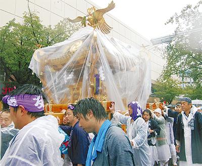 雨にも負けず「秋祭り」