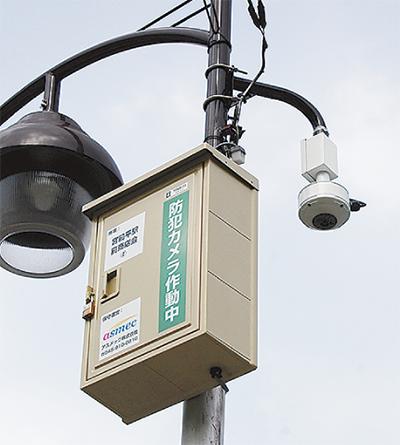 防犯カメラ8台を設置