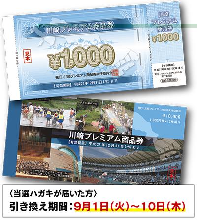川崎プレミアム商品券9月1日から利用開始