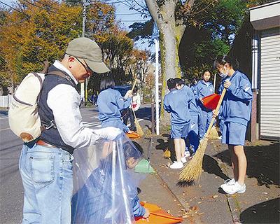 野川中生らが地域清掃