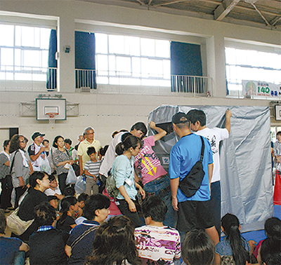 3小学校初の合同訓練