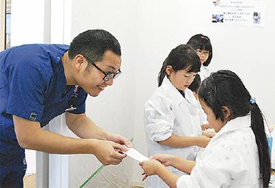 子ども達が歯科医体験