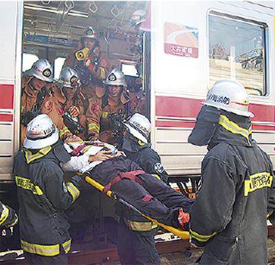 列車火災から人命守る