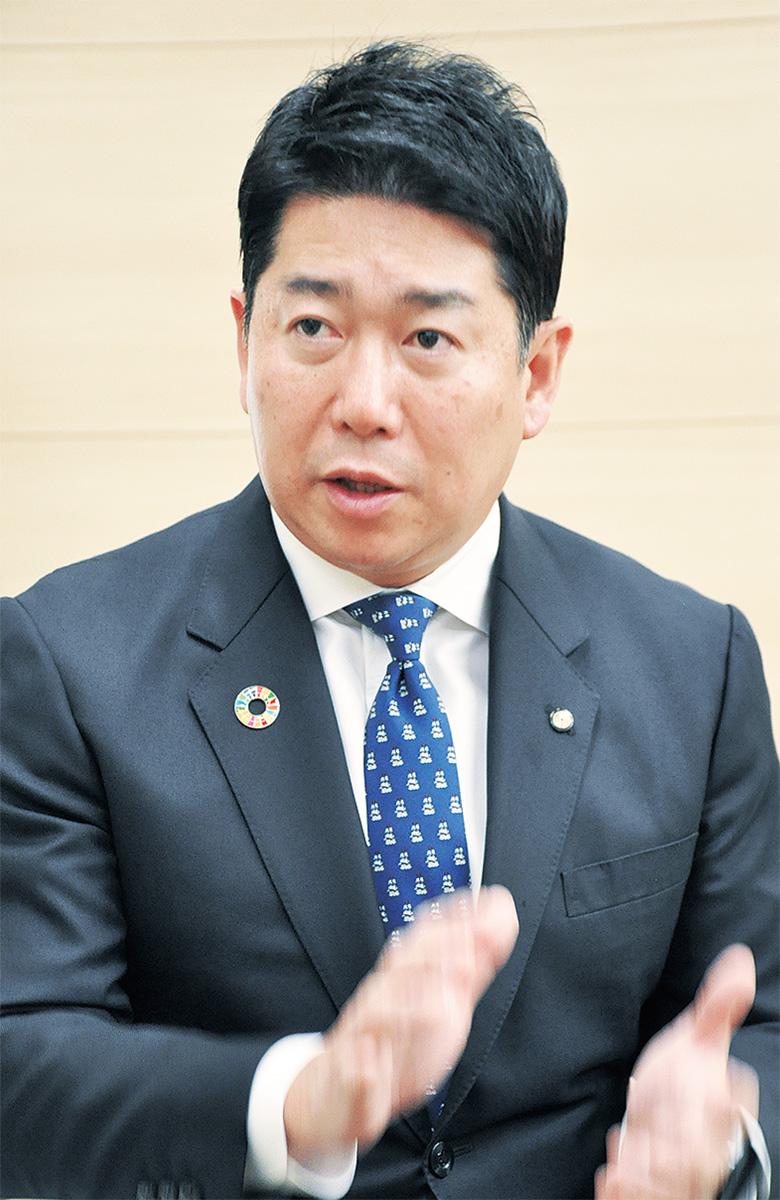 昨年を振り返り、新年の抱負を語る福田市長
