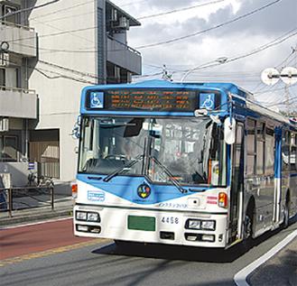 市内を走る市バス