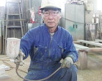 金属製品塗装のかわさきマイスター堀切義昭さん(2011年度)