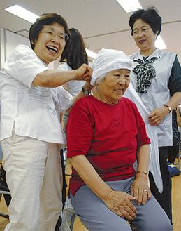 笑顔で学ぶ参加者たち