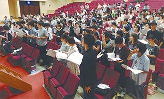 様々な世代が集まった合唱講会