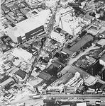開業当初のムサシボウル周辺の航空写真(ムサシボウル提供)