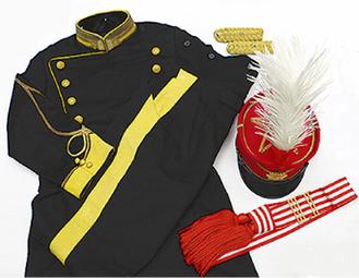 展示されている陸軍大礼服