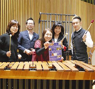 左から講師の小川佳津子さん、山澤洋之さん、中村祐子さん、神谷百子さん、高田亮さん
