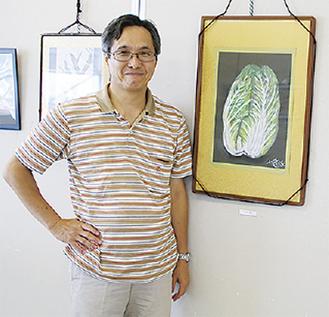 岩田さんと自身の作品