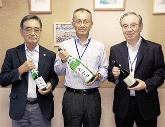 山田区長(中央)と森さん(左)、大竹さん