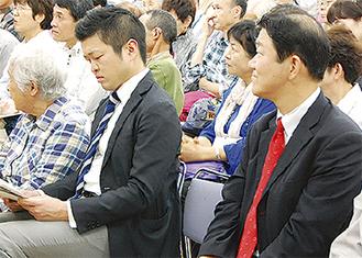 左から三村氏(民進)と樋高氏(自由)