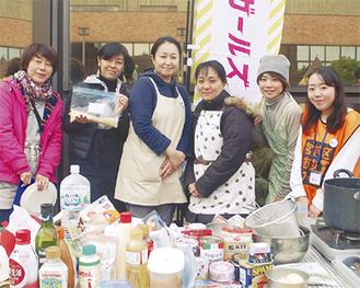 宮前区の防災フェアに参加したメンバーたち