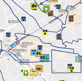 地域資源マップの一例