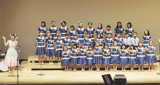 4歳から14歳の子ども37人が歌声を披露した