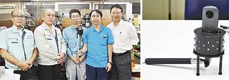 開発に携わったWITと清水建設の人たち(写真右)と「Pano Shot R」