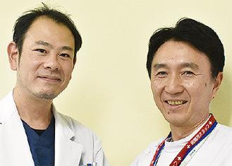 小宮医師と千葉医師(右)