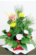 お正月用の花を生ける