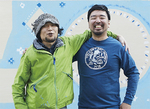 遠山さん(左)と久保田さん=小川拓郎さん提供