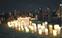 2千本の光で河川敷灯す