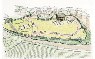 たちばな古代の丘緑地周辺における整備イメージ例
