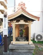 「庚申塔の祠」、修繕が完了