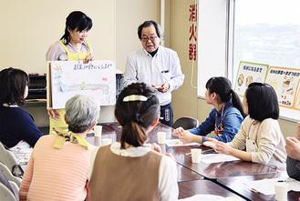 お米の講義をする谷さん(左)と小島さん