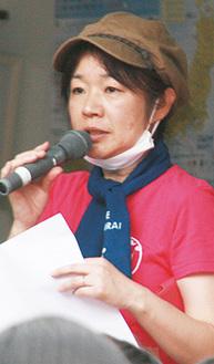 ボランティア活動の事前説明をする桜井純恵さん