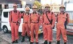10月13日、区内5カ所の避難所に出動した会員たち
