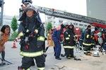 高津地区少年消防クラブの活動(写真は過去の様子)