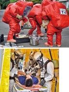 化学兵器テロ備え訓練