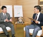 将来的な戦略を示す福田市長