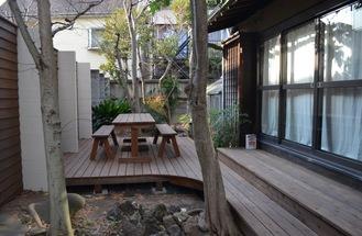 整備中の屋外スペース(1月18日撮影)