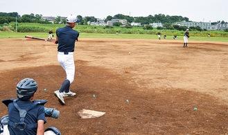 練習する川崎宮前ドリームス=6月26日