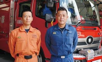 取材に応じた鈴木さん(左)と近藤さん