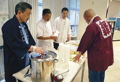 寿司職人らが炊き出し