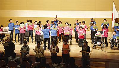 歌と踊りの発表会
