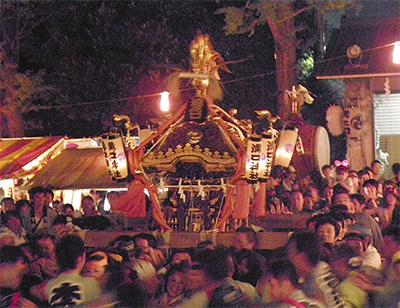 溝口神社で例大祭