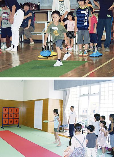 スポーツ縁日で遊ぶ一日