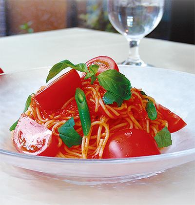 夏の一押し、冷製トマトパスタ