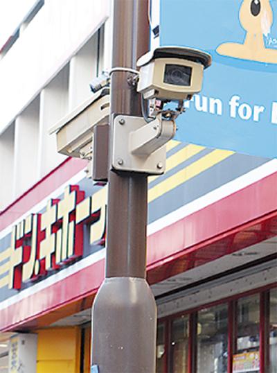 犯罪抑止へ防犯カメラ増